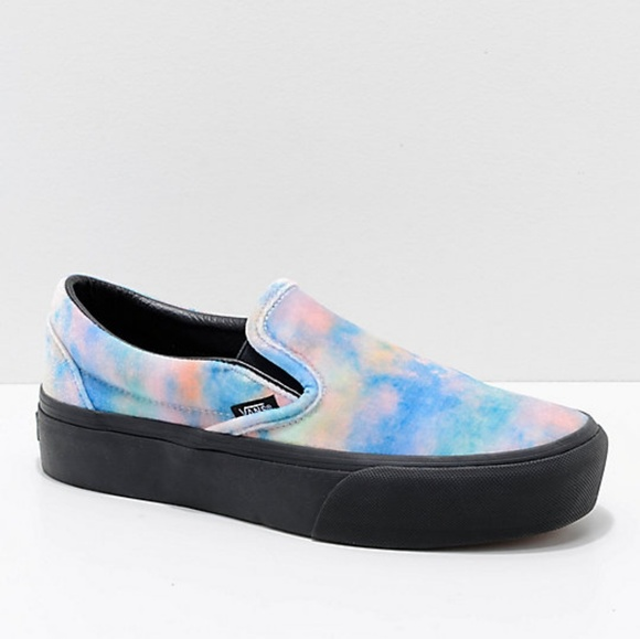 aa6eff4aec0d VANS Classic Slip On Velvet Tye Dye Platform. M 5b2200a45c44520ead21f554.  Other Shoes you may like. Womens Van
